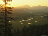 View at Dawn of the Tuolumne River Winding Through Tuolumne Meadows
