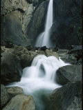 Lower Yosemite Falls Cascades into Yosemite Creek
