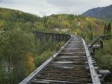 Ruins of the Gilahina Trestle Bridge on the Copper River Railway