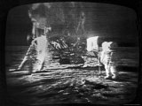 Televised View of the Apollo 11 Astronauts Walking on the Moon