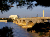 Looking Across Arlington Memorial Bridge To Washington  Dc