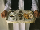 Berber Hospitality in the Form of Tea  Coffee and Cakes on a Tray