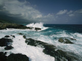 Heavy Surf Pounding a Rocky Coastline