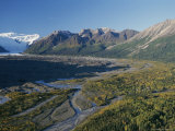 Scenic View of Kennicott Glacier and the Town of Mccarthy