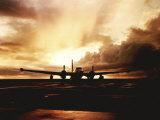 Navy P2V Patrol Plane at Sunset at Keflavik Naval Station