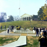 Mourners Pay Their Respects at the Original Kennedy Gravesite