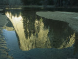 El Capitan Reflected on the Surface of the Merced River