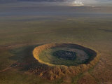 Aerial View of a Meteor Impact Crater Near the Town of Halls Creek