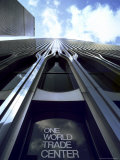 Skyward View of the Twin Towers of the World Trade Center
