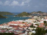 Overhead of Charlotte Amalie from Blackbeard&#39;s Castle on Government Hill