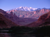 La Sal Mountains and Professor Valley in Colorado Riverway Recreation Area Near Moab