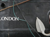 Grey Ship with London Script  Anchor and Rope
