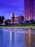 River Torrens and City Buildings at Sunset