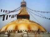 Bodhnath Stupa in Mist on Winter Morning