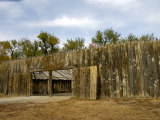 Replica of Fort Mandan  1804-05 Winter Camp of Lewis and Clark Expedition