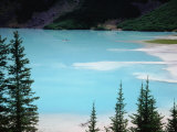 Dirty Glaciel Melt Feeds into Turquoise Waters of Lake Louise