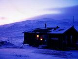 Viterskalsstugan' Tourist Cottage in Winter  Vindelfjallen Nr  Lapland