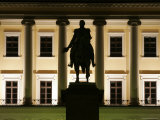 Facade of Royal Palace Det Kongelige Slott by Night