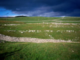 Limestone &#39;Pavements&#39;  Dry Stone Walls and Moody Skies  All Characteristics of the Dales