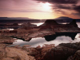 Lake Powell  Gunsight Butte and Bay from Romana Mesa  Navajo Mountain