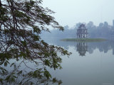 Pagoda in Centre of Ho Hoan Kiem Lake