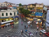 Traffic Intersection  Downtown Hanoi