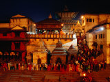 Pashupatinath Temple at Dusk