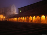 Basilica Di San Francesco in Fog at Night