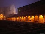 Basilica Di San Francesco in Fog at Night