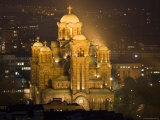 Sveti Marko Orthodox Church at Night  Central Belgrade