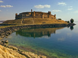 Qala'at Ja'abar Citadel Jutting Out into Lake Al-Assad  Central Syria