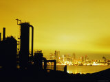 Ruins of Seattle Gas Light Company at Gasworks Park with Downtown and Lake Union in Background