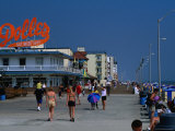 People on Rehoboth Beach Boardwalk