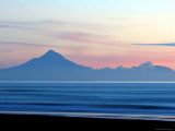 Mount Taranaki at Twilght from Moaku Beach  Mokau