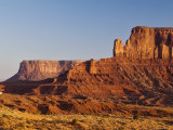 Sentinel Mesa Rock Formation in Monument Valley  Seen at Sunrise
