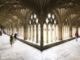 Inside the Cloisters at Canterbury Cathedral