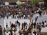 People at Busy Intersection  Hachiko Exit  Shibuya Station