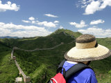 Looking over Great Wall of China