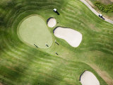 Aerial of Golfers on Green of Tierra Del Sol Golf Course