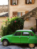 Old Green Renault Near House