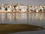 Pushkar Town and the Ghats on River