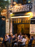 Diners at La Petite Hostellerie in the Latin Quarter