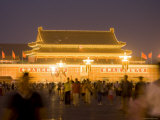 Gate of Heavenly Peace at Night from Tiananmen Square