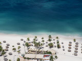 Aerial of Bucuti Beach Resort Restaurant on Eagle Beach