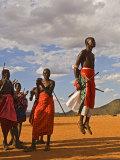 Samburu Warrior Dancing