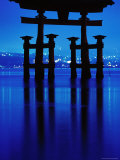 Floating Torii' at Night