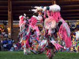 Adult Men in Team Dancing  Kamloops Pow Wow