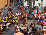 Busy Plaza De Santa Domingo During Peak Season in the Walled City