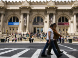 Men on Zebra Crossing in Front of Metropolitan Museum of Art  Fifth Avenue  Upper East Side