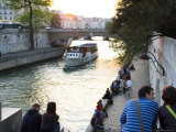 Cruiseboat and Sunset on the Seine